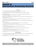 Journal of International Accounting Research Volume 14, No. 2, 2015