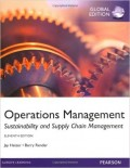Operations Management : Sustainability and Supply Chain Management